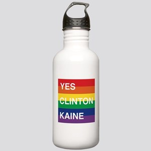 YES Clinton Kaine - Rainbow Water Bottle