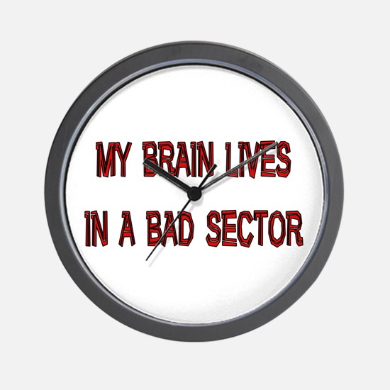 Brain Lives in Bad Sector Wall Clock