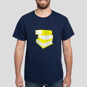 Stack Of Yellow Books Dark T-Shirt