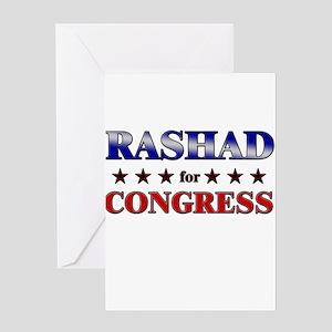 RASHAD for congress Greeting Card
