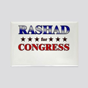 RASHAD for congress Rectangle Magnet
