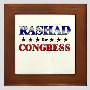 RASHAD for congress Framed Tile