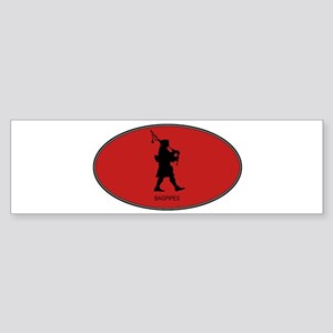 Bagpipes (euro-red) Bumper Sticker