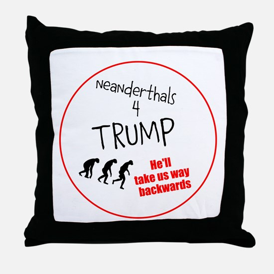 Neanderthals 4 Trump Throw Pillow