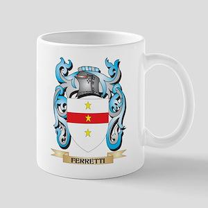 Ferretti Coat of Arms - Family Crest Mugs