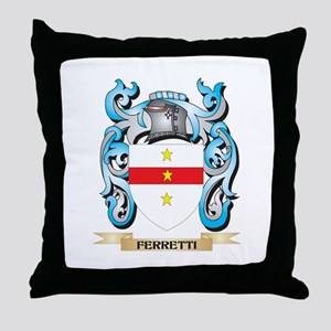 Ferretti Coat of Arms - Family Crest Throw Pillow