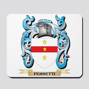 Ferretti Coat of Arms - Family Crest Mousepad