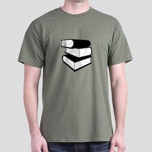 Stack Of Black Books Dark T-Shirt