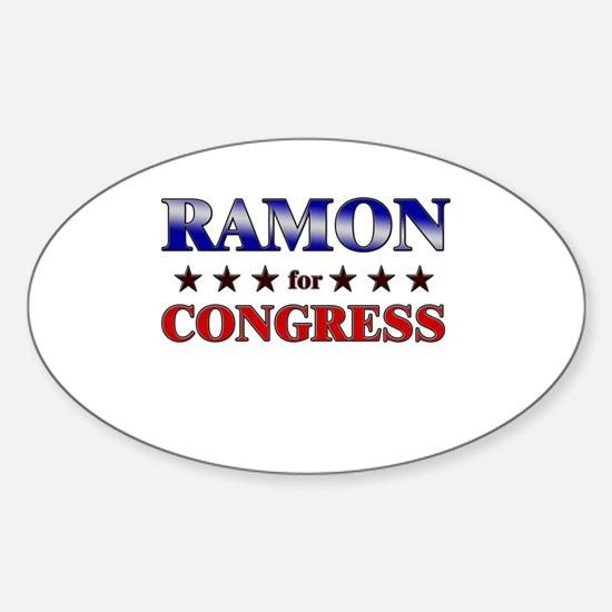 RAMON for congress Oval Decal