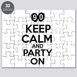 90 Keep Calm And Party On Birthday Puzzle