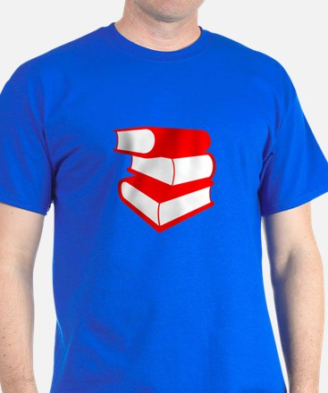 Stack Of Red Books T-Shirt