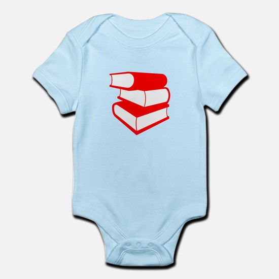 Stack Of Red Books Infant Bodysuit