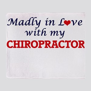 Madly in love with my Chiropractor Throw Blanket