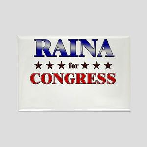 RAINA for congress Rectangle Magnet