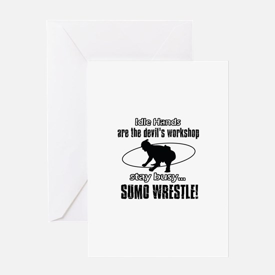 Stay Busy Sumo Wrestle Greeting Card