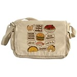 Talking Food Messenger Bag