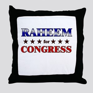 RAHEEM for congress Throw Pillow