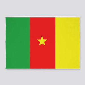 Flag of Cameroon 5'x7'Area Rug