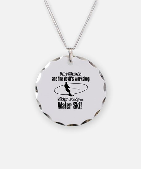 Stay Busy Water Ski Necklace