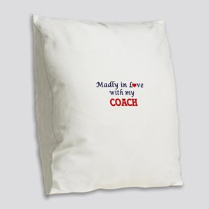 Madly in love with my Coach Burlap Throw Pillow