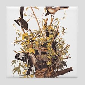 Audubon's Mocking Bird Tile Coaster