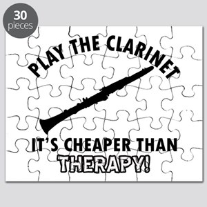 Clarinet It's Cheaper Than Therapy Puzzle