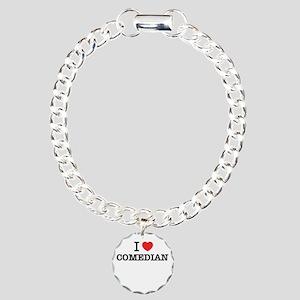 I Love COMEDIAN Charm Bracelet, One Charm