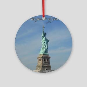 Lady Liberty Dream Round Ornament