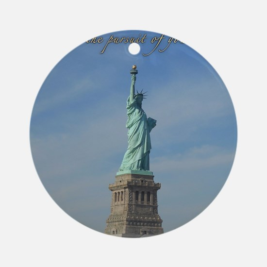 Lady Liberty Dream Round Ornament