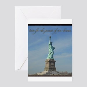 Lady Liberty Dream Greeting Cards