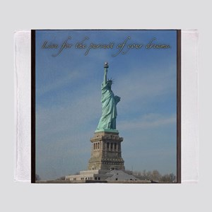 Lady Liberty Dream Throw Blanket