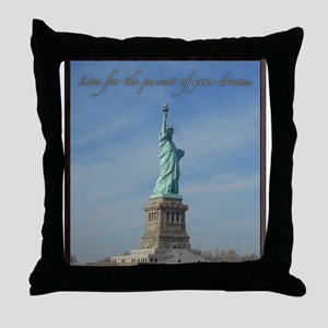 Lady Liberty Dream Throw Pillow