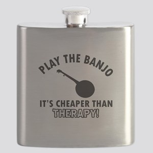 Banjo It's Cheaper Than Therapy Flask