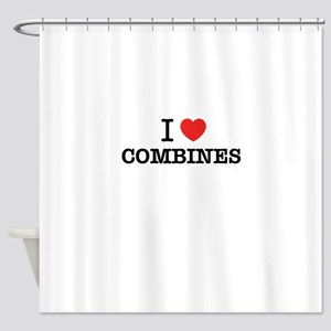I Love COMBINES Shower Curtain