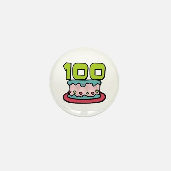 100th Birthday Cake Mini Button