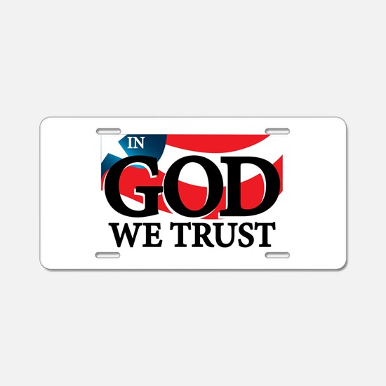 In God We Trust Aluminum License Plate