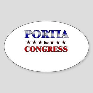 PORTIA for congress Oval Sticker