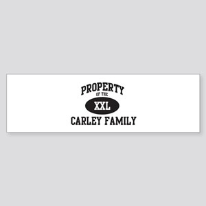 Property of Carley Family Bumper Sticker