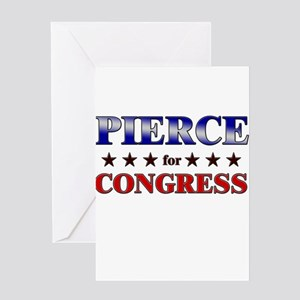 PIERCE for congress Greeting Card