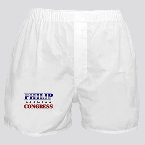 PHILIP for congress Boxer Shorts