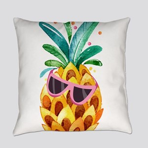 Colorful Pineapple Watercolors Ill Everyday Pillow