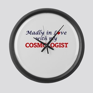 Madly in love with my Cosmologist Large Wall Clock