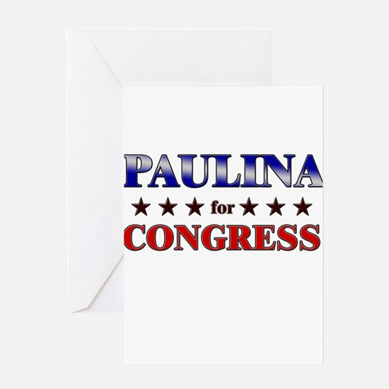 PAULINA for congress Greeting Card