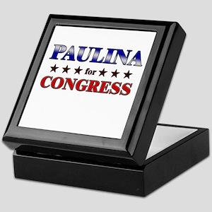 PAULINA for congress Keepsake Box