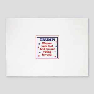 Woman voters against Trump 5'x7'Area Rug