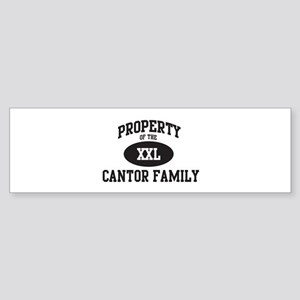 Property of Cantor Family Bumper Sticker