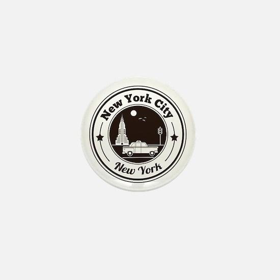 New York City Icons Mini Button