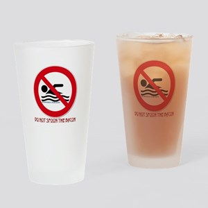 Do Not Spoon The Bacon Drinking Glass
