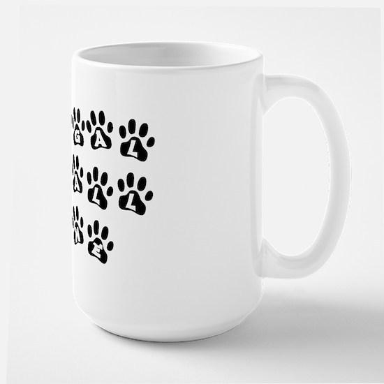 My Bengal Walks All Over Me Large Mug