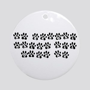 My Bengal Walks All Over Me Ornament (Round)
